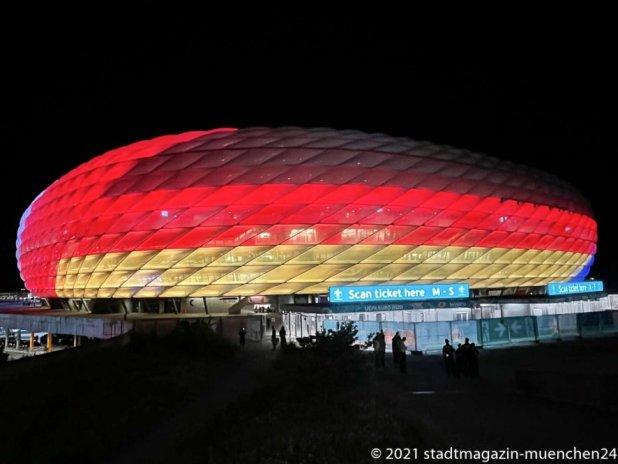 Sonderbeleuchtung Arena zur EURO 2020