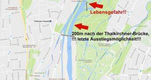 Gefahren Isar Schlauchbootfahren Flaucher München