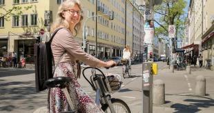 Grüne Welle Radfahrer Schellingstraße München Stadträtin Bettina Messinger, Quelle Foto SPD-Fraktion Stadtrat München