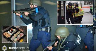Polizei Übung im Hauptbahnhof Quelle Foto Bundespolizei München