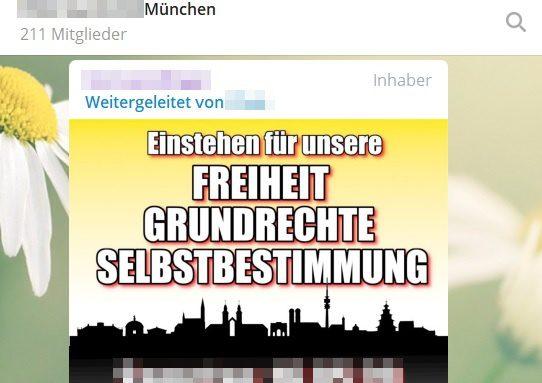 Plakat Ankündigung Demo Theresienwiese München
