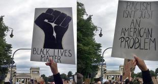 BLM Silent Demo gegen Polizeigewalt und Rassismus Königsplatz München