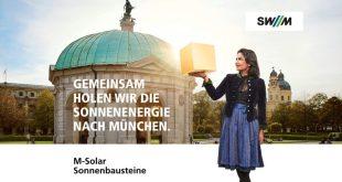 Plakat Sonnenbausteine SWM München