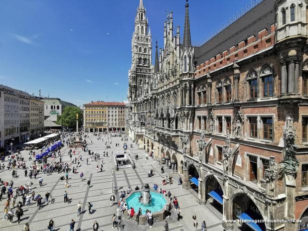 Am Marienplatz in München gilt ab Donnerstag Maskenpflicht