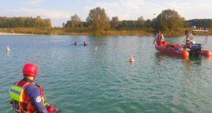 Einsatz der Wasserwacht München in Riem