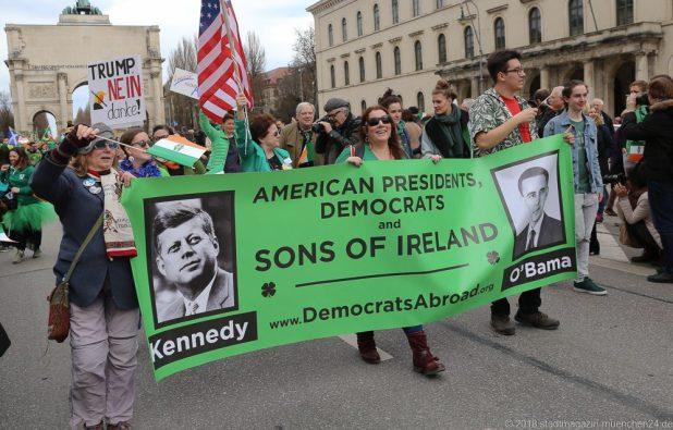 Democrats Abroad bei der St. Patricksday Parade in München
