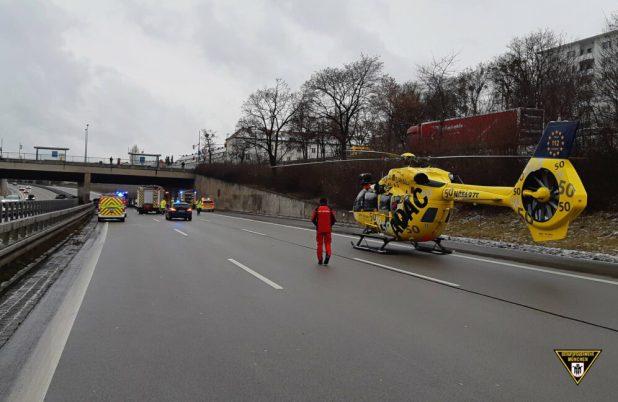 Tödlicher Verkehrsunfall auf der A96 in München-Laim
