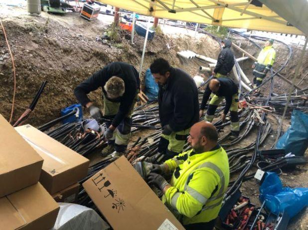 Reparaturarbeiten nach Kabelbrand im Werksviertel