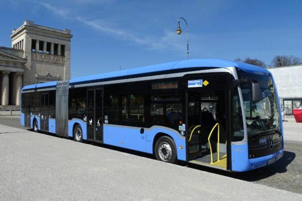 Mercedes Benz eCitaro Elektro-Gelenkbus außer Betrieb genommen