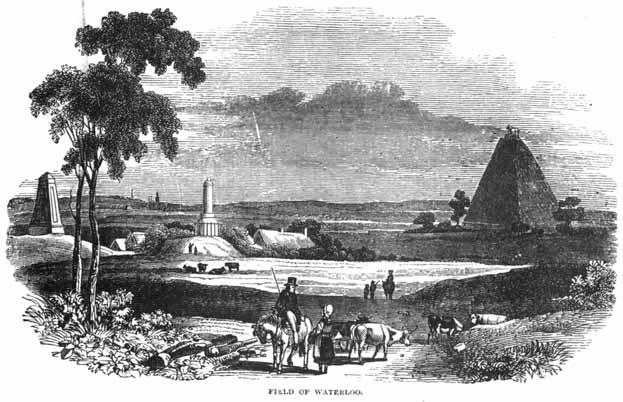 De monumenten en de Leeuw van Waterloo