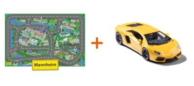 Combideal: stadtspielteppich Mannheim und Lamborghini Aventador Gelb
