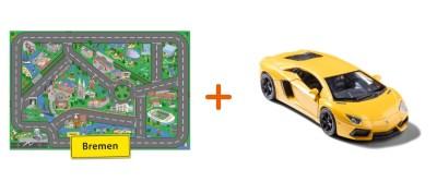 Combideal: stadtspielteppich Bremen und Lamborghini Aventador Gelb