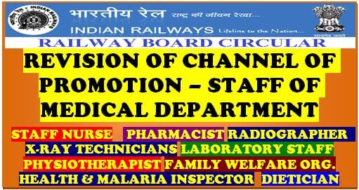 Revision of channels of Promotion (AVC) of various categories of Medical Department: Railway Board Order RBE No. 178/2019