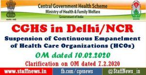 suspension-of-continuous-empanelment-hcos-under-cghs-delhi-ncr
