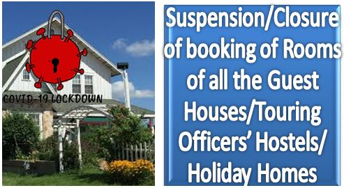 Suspension/Closure of booking of Rooms of Guest Houses/Touring Officers' Hostels/ Holiday Homes: Director of Estates Order dt 06.05.2020