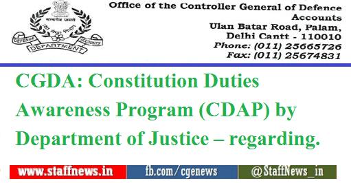 CGDA: Constitution Duties Awareness Program (CDAP) by Department of Justice