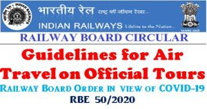 guidelines-for-air-travel-on-official-tours-railway-board-order