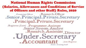 national-human-rights-commission-salaries-allowances-and-conditions-of-service-rules-2020-notification