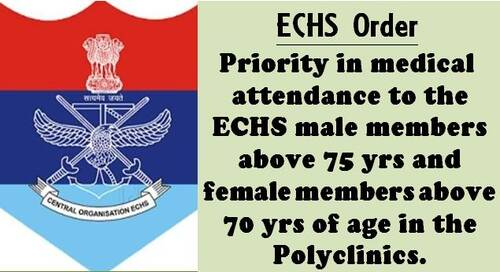Priority Treatment of Senior Citizens: Clarification by ECHS