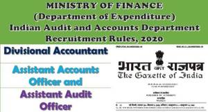 divisional-accountant-assistant-accounts-officer-and-assistant-audit-officer-recruitment-rules-2020