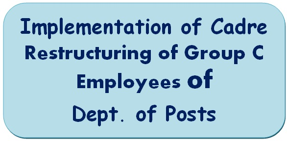 Implementation of Cadre Restructuring of Group C Employees of Dept. of Posts