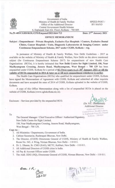 empanelment-of-new-delhi-centre-for-sight-limited-under-cghs-kolkata-w-e-f-28th-january-2021