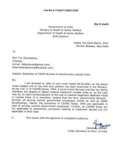 extension-of-cghs-facilities-to-beneficiaries-outside-india