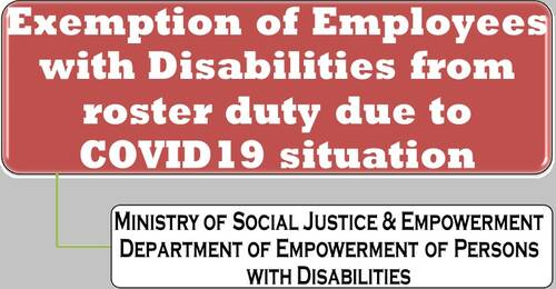 Exemption of Employees with Disabilities from roster duty due to COVID-19 situation: DPE OM dtd 16.06.20201