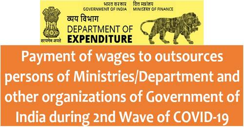 Payment of wages to outsources persons of Ministries/Department during 2nd Wave of COVID-19