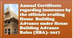 annual-certificate-regarding-insurance-by-the-officials-availing-house-building-advance