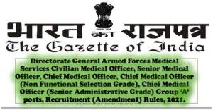 directorate-general-armed-forces-medical-services-group-a-posts-recruitment-amendment-rules-2021