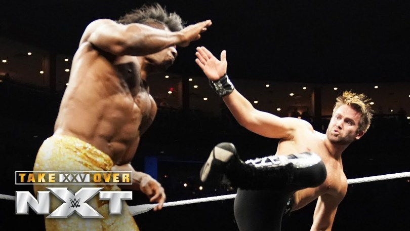 tyler breeze brings the fight to