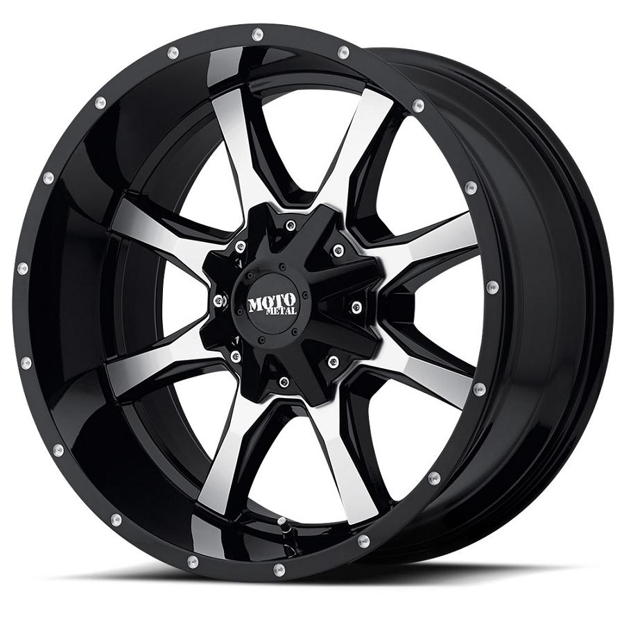 2004 2018 f150 moto metal mo970 20x10 gloss black machined wheel 24mm offset mo97021067324n