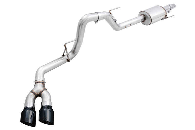2015 2020 f150 awe tuning 0fg single side exit cat back exhaust kit with black tips 3015 23058