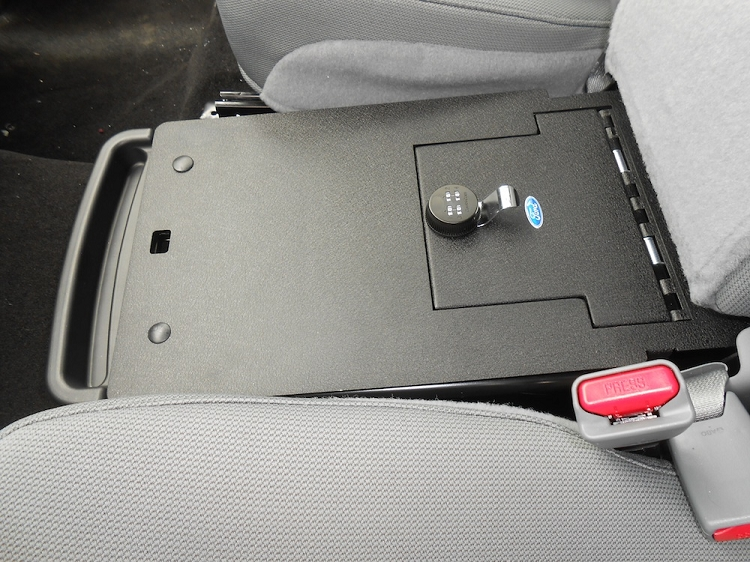 2011 2014 F150 Console Vault Under Front Middle Seat Gun