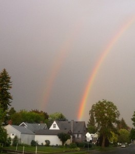 It was a double rainbow evening