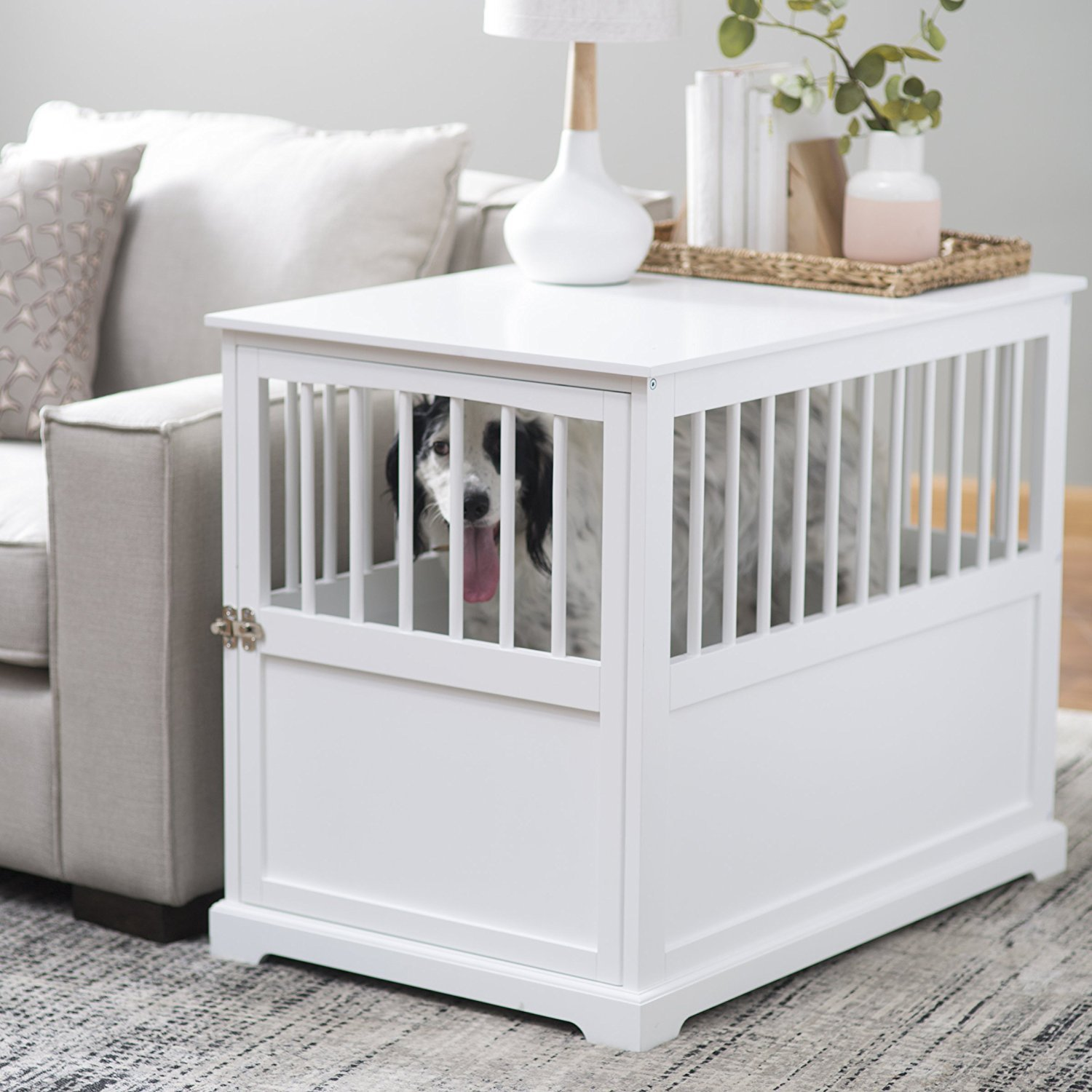 End Table Dog Crate Home Furniture Design