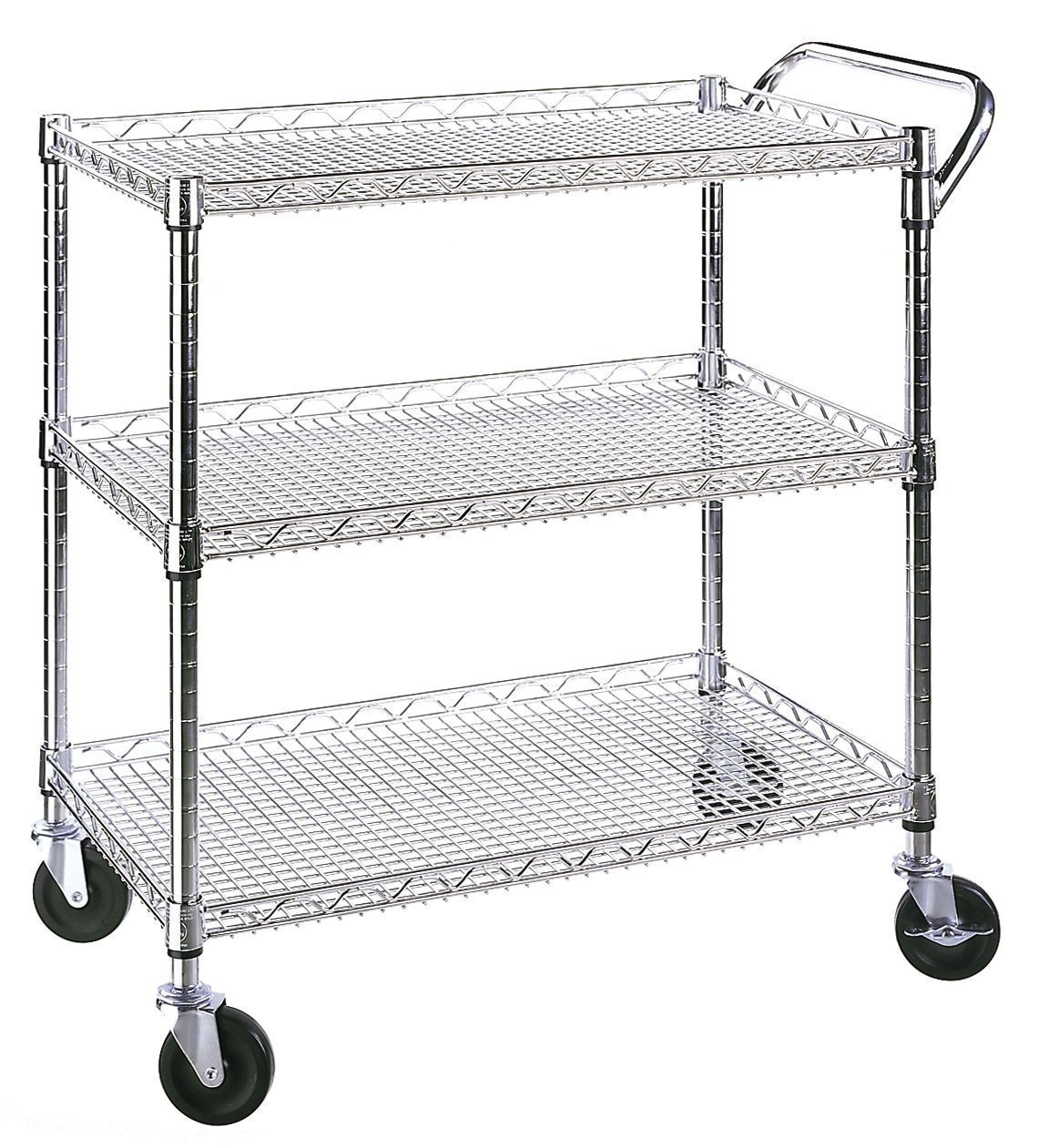 Metal Utility Cart With Wheels