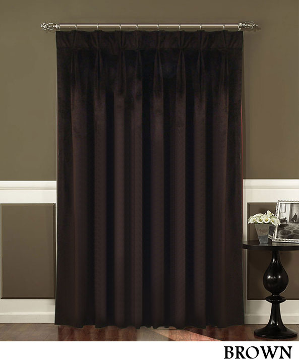 Red Triple Pleated Curtains