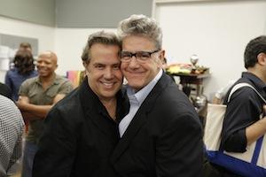 Jonathan Freeman R with Gary Martori L. Photo by Heidi Gutman.