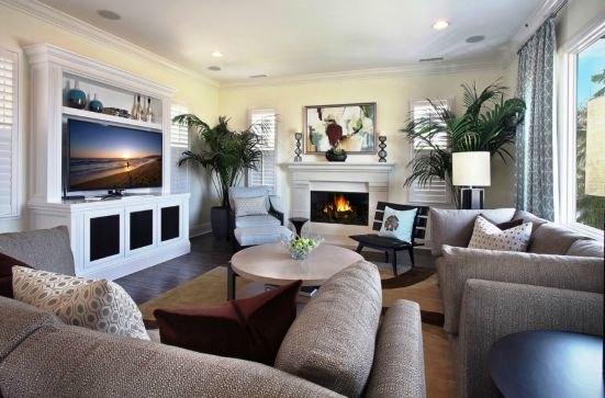 Family Room Furniture Layout Tv Fireplace