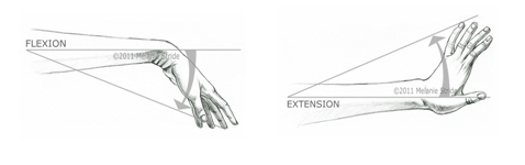 flexion and extension wrist table tennis
