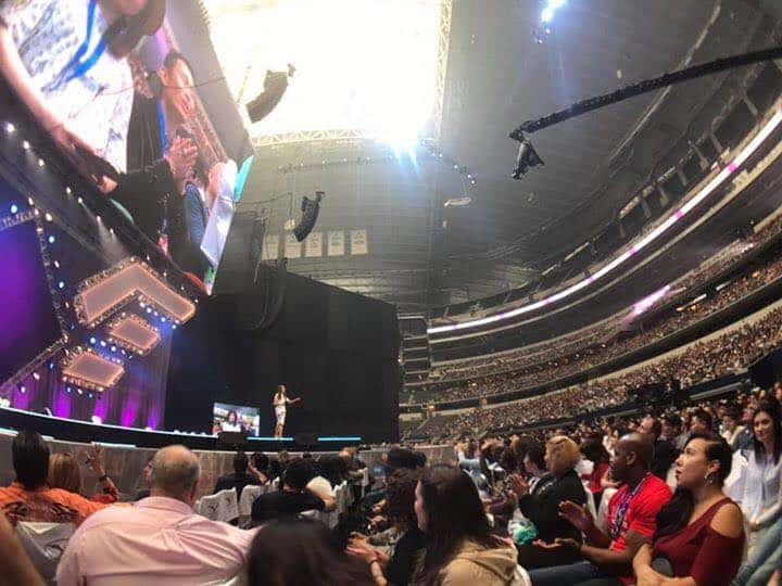 Millie Speaking at AT&T Stadium (Texas, USA) in front of 24,000+ audience