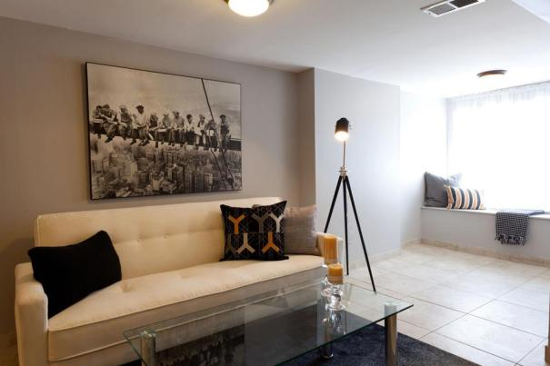 home staging with pillows