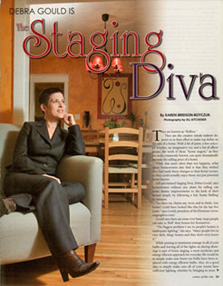 Debra Gould in Center of the City Magazine
