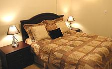 Master bedroom after staging