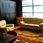 Lounge area in the SK&H Bend office.