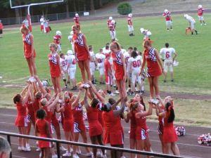 LHS cheerleaders