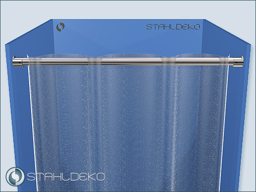 o 20mm stainless steel shower curtain
