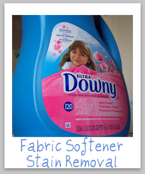 Fabric Softener Stain Removal Guide